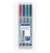 Folienstift 311 S farbig sortiert 0,4 mm 4er-Etui non-permanent