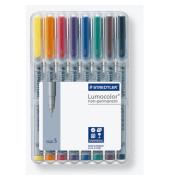 Folienstift 311 S farbig sortiert 0,4 mm 8er-Etui non-permanent