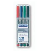 Folienstift 312 B farbig sortiert 1,0-2,5 mm 4er-Etui non-permanent