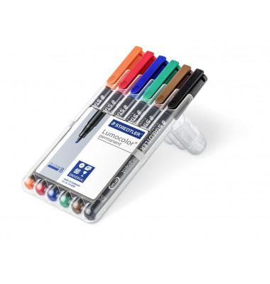 Folienstift 314 B farbig sortiert 1,0-2,5 mm 6er Etui permanent