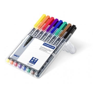 Folienstift 314 B farbig sortiert 1,0-2,5 mm 8er-Etui permanent
