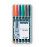 Folienstift 318 F farbig sortiert 0,6 mm 6er-Etui permanent