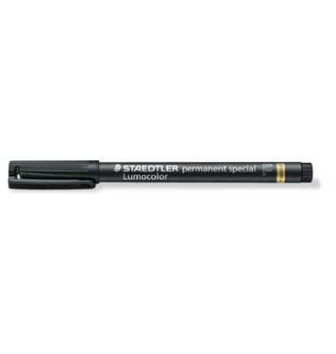 Faserschreiber permanent F schwarz 0,6mm spezial Rundspitze