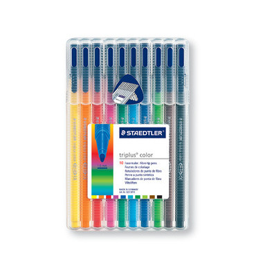 Fasermaler triplus color auswaschbar farbig sortiert 1mm 10er-Etui