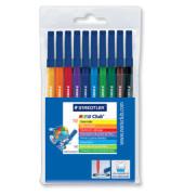 Faserschreiber auswaschbar farbig sortiert 1mm 10er-Etui