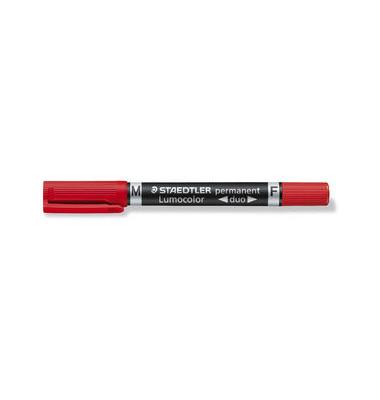 Permanentmarker 348 duo rot 0,6mm und 1,5mm Rundspitze