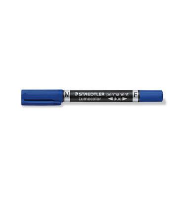 Permanentmarker 348 duo blau 0,6mm und 1,5mm Rundspitze
