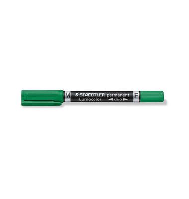 Permanentmarker 348 duo grün 0,6mm und 1,5mm Rundspitze