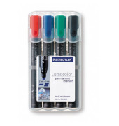 Permanentmarker 350 4er Etui farbig sortiert 2-5mm Keilspitze