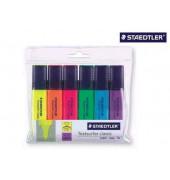 Textmarker Textsurfer classic 6er Etui farbig sortiert 1-5mm Keilspitze