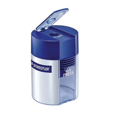 Spitzdose mit Behälter transparent/blau/silber