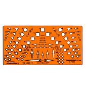 Kataster Planzeichung 2 orange 175 x 85 x 1,2mm