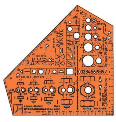 Kunststoff-Schablone Metall 8190 orange-transparent