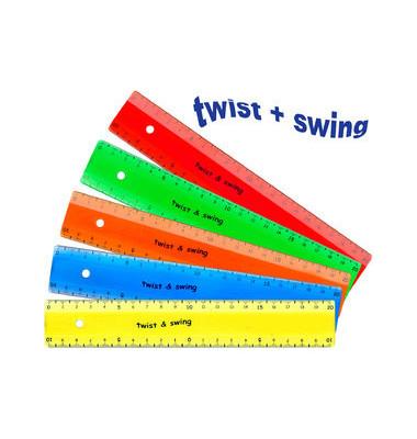 Lineal Kunststoff flexibel 20cm farbig sortiert