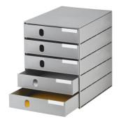 Schubladenbox Oeko grau 246x335x323 5Schubl.