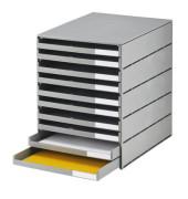 Schubladenbox styroval grau 10 Schubladen