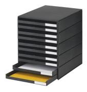 Schubladenbox Kunst. schwarz 246x335x323 10Schub.