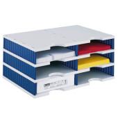 Sortierstation doc mit 6 Fächern C4 grau/blau