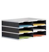 Sortierstation doc mit 6 Fächern C4 grau/schwarz