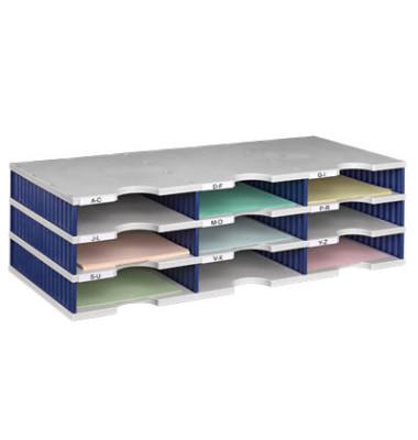 Sortierstation Styrodoc mit 9 Fächern C4 grau/blau