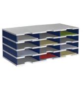 Sortierstation doc mit 12 Fächern C4 grau/blau