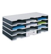 Sortierstation doc mit 12 Fächern C4 grau/schwarz
