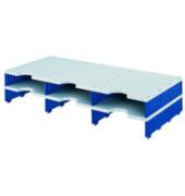 Sortierstation Styrodoc Jumbo mit 6 Fächern C4 grau/blau Aufbaueinheit