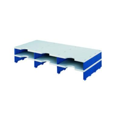 Sortierstation doc Jumbo mit 6 Fächern C4 grau/blau Aufbaueinheit