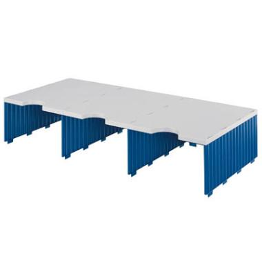 Sortierstation Styrodoc Jumbo mit 3 Fächern C4 grau/blau Aufbaueinheit