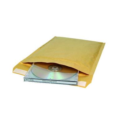 Papierpolstertaschen CD, SU15CD, innen 165x175mm, haftklebend, braun