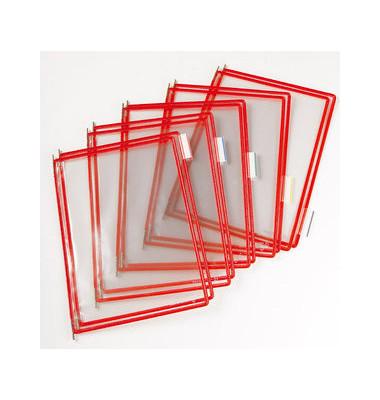 Sichttafeln rot A4 hoch 10 Stück