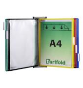 dokumentenecht 5 St/ück mit matter Folie und stabilem Rahmen gelb Durable Sichttafeln A4