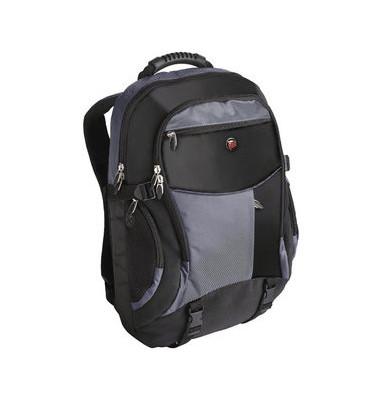Notebookrucksack XL schwarz/blau bis 18,4 Zoll