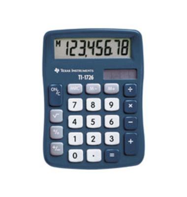 Tischrechner TI-1726,8-stellig dunkelblau