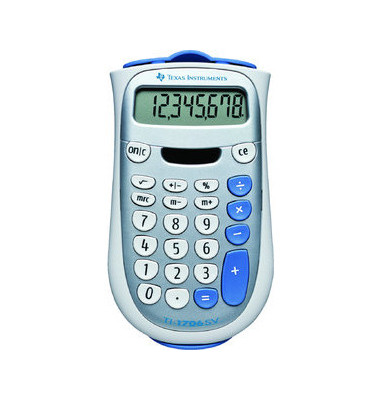 Tischrechner TI-1706SV,8-stellig weiß/silber
