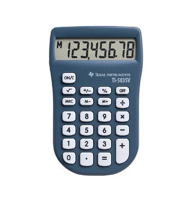 Taschenrechner TI-503SV 8-stellig blau