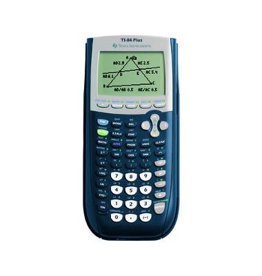 Taschenrechner TI-84-Plus 16-stellig blau