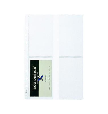 Visitenkartenhüllen für 8 Karten transparent A5 Zeitplan 5 Stück