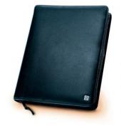 Ringbuch Klassik mit Reißversch. schwarz A5 Ring.35mm Leder