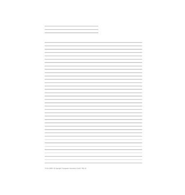 Liniertes Papier für A5 50 Blatt