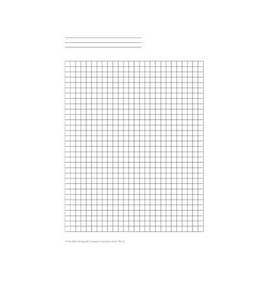 Ersatzeinlage Kariertes Papier für A5 50 Blatt