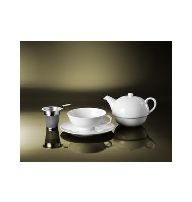 Tea for One Set Kanne-Tasse-Untertasse für ca 400 ml