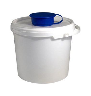Wischtuchspender 066755 Temdex Eimer 5,7 Liter mit Deckel 4 Stück weiß