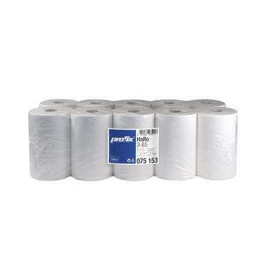 Rollenhandtücher 075153 racon premium 3-65 Außenabrollung 3-lagig Tissue hochweiß 10 Rollen