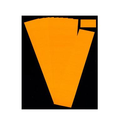 Einsteckkarten für Planrecord orange 40x32mm 90 Stück