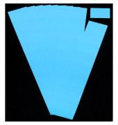 Einsteckkarten für Planrecord blau 40x32mm 90 Stück