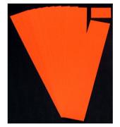 Einsteckkarten für Planrecord rot 50x32mm 90 Stück