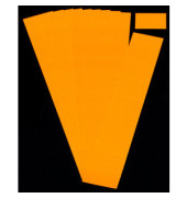 Einsteckkarten für Planrecord orange 60x32mm 90 Stück