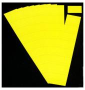 Einsteckkarten für Planrecord citron 60x32mm 90 Stück