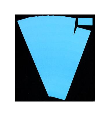 Einsteckkarten für Planrecord blau 70x32mm 90 Stück